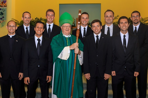 Bishop Sullivan accepts New Seminarians