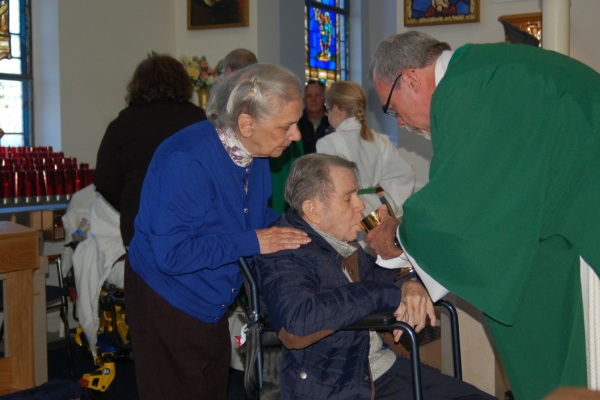 Bishop at healing Mass