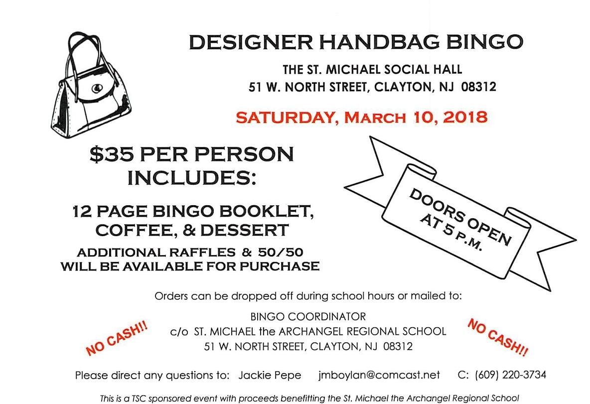 St  Michael Designer Bag Bingo – Diocese of Camden